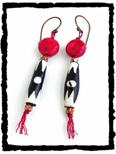#beads Art Bead Scene Blog: Tribal Dance Earrings - Free Project