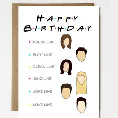 Excited to share this item from my shop: Funny Friends TV Show Inspired Birthday Card - Friend Birthday Card - Boyfriend Card - Girlfriend Card - Card for Husband Diy Birthday Gifts For Dad, Birthday Cards For Girlfriend, 21st Birthday Cards, Simple Birthday Cards, Homemade Birthday Cards, Birthday Cards For Friends, Birthday Greeting Cards, Happy Birthday, Birthday Wishes