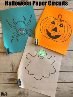 It's always fun to do a little bit of holiday learning and today I have a Halloween STEM activity to share with you. These cute halloween paper circuits are simple to make. Halloween Activities For Kids, Science Activities For Kids, Preschool Activities, Science Experiments, Science Fun, Halloween Science, Halloween Fun, Stem Curriculum, Stem Projects