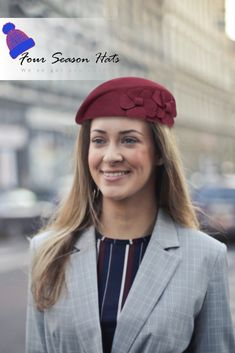 add a Sydney- Wine Wool Beret to your day ✨ Boy Fashion, Fashion Outfits, Womens Fashion, Fashion Trends, Beret Street Style, Aussie Hat, Mens Beret, Beret Outfit, Wool Berets