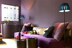 Figue et prune sur les murs - Ultra violet pour une déco chic et choc - CôtéMaison.fr