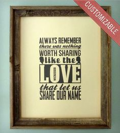 Personalized Share Love Print by The Oyster's Pearl on Scoutmob Shoppe