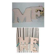 Letras para quarto de criança/ chá de bb/ maternidade revestidas em perolas. Essas são da Maria Flor 🌺🌸👸🏻