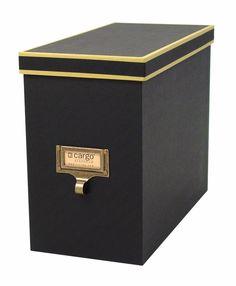 Cargo Black Atheneum File Box, Set of 3 - free shipping   The Organizing Store #officeorganizing