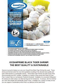 @ocean_wise & ASC certified Balck Tiger Shrimp. Best taste & quality all sustainably farmed from OceanPrime!