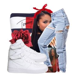 """""""Aaliyah Inspired"""" by brxxklyn-xo on Polyvore featuring Tommy Hilfiger, New Look and NIKE"""