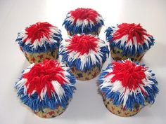 Creative Party Ideas by Cheryl: 4th of July Fireworks Cupcakes