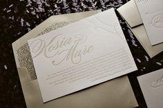 Glitter wedding invitations, champagne wedding invitations, trends for 2014 weddings