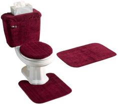 Best Red Bathroom Rugs Set