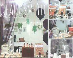 Escaparate Otoñal de pequeña tienda de Cosmética Natural y Ecológica de Oviedo, GEAcosmetics