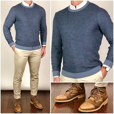 style for men casual Mens Fashion Sweaters, Mens Fashion Wear, Mens Office Fashion, Fashion Shirts, Fashion Outfits, Mode Masculine, Stylish Men, Men Casual, Casual Styles