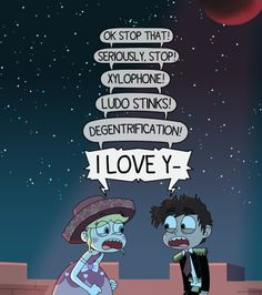 "Starco blood moon ball ""i love y-"" SVTFOE Dreamworks, Starco Comic, Star Y Marco, I Ship It, Disney Xd, Star Butterfly, Star Wars, Star Vs The Forces Of Evil, Force Of Evil"