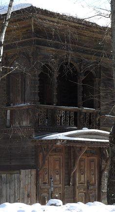 Ornate wood woork on a Russian Dacha