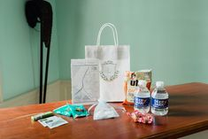 maryland wedding, crab chips, crest bag, welcome gift