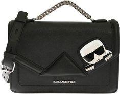 Karl Lagerfeld K Ikonik Kklassik Black Bag Black - Genti Tip Postas Karl Lagerfeld, Mall, Kate Spade, Shoulder Bag, Black, Fashion, Moda, Black People, Fashion Styles