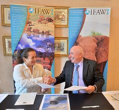 H.R.H. Princess Alia, seen here with Azzedine Downes - IFAW Chief Executive Officer – is a new IFAW honorary board member.