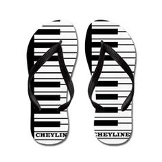Flip Piano Keyboard Flip Flops.  To see MANY more amazing Flip Flop Sandals by Cheylines, follow this link   http://www.cafepress.com/cheylines/10123909