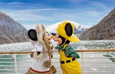 Mickey and Minnie in Alaska on the Disney Wonder cruise is on my wish list! Disney Cruise Alaska, Disney Wonder Cruise, Disney Cruise Ships, Disney Vacations, Disney Trips, Disney Parks, Disney Travel, Disney Dream, Disney Fun