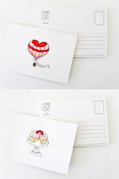 """""""Letterbox Love"""" postcards by Tasmanian designer Holly Webber"""