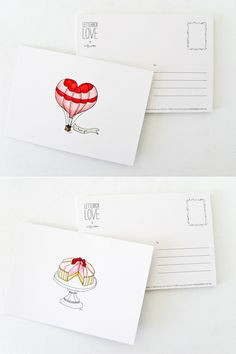 Make my own postcards. Print back where address and message goes, then stamp and color the front. Very simple.