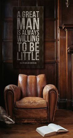 Great Quote From Ralph Waldo Emerson. Also, I Want That Chair. Great Quotes