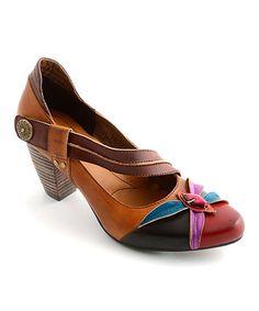 Look what I found on #zulily! Amber Elite Honeysuckle Leather Pump #zulilyfinds
