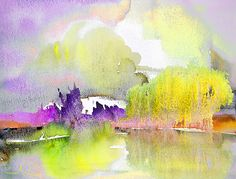 Watercolour Painting - Late Afternoon 02 by Miki De Goodaboom