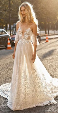 Gali Karten 2019 Wedding Dresses - Paris Bridal Selection Off the make lace ball dress wedding dress with corset bodice A-line Chilly make sleeve wedding gown with sweetheart neckline Bohemian princess bridal dress weddingdress weddingdresses Western Wedding Dresses, Sweetheart Wedding Dress, Princess Wedding Dresses, New Wedding Dresses, Perfect Wedding Dress, Bridal Dresses, Gown Wedding, Cold Shoulder Wedding Dress, Paris Wedding