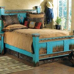 Shop Lone Star Western Decor Now And Get Cost Savings As High As On Western  Bedroom Furniture, For Example This Domingo Azul Bed!