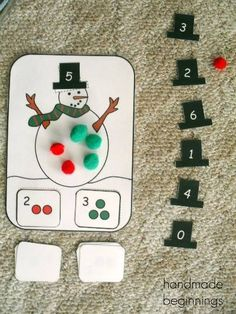 Here are some fun math activities that we've been doing for our winter theme this month. Addition Last week I introduced addition to my. Preschool Christmas, Math Classroom, Fun Math, Kindergarten Activities, Math Games, Classroom Activities, Teaching Math, Preschool Activities, Number Activities