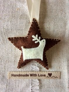 Nordic Christmas decorations  / handcrafted tree decoration / hand sewn tree decorations by BunnybearDesignsUK on Etsy