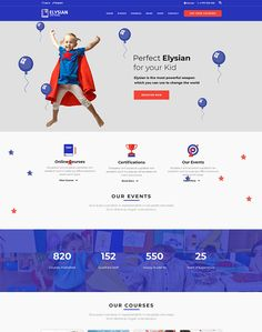 Elysian - WordPress School Theme + LMS - ModelTheme Never Settle For Less, School Themes, All Kids, Music Lessons, Care About You, Best Teacher, Great Books, Learn English, Wordpress Theme