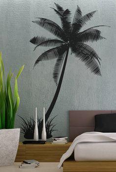 Palm Tree 2   Wall Decal Vinyl Decor Art Sticker by UberDecals