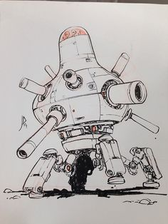 "An ""evil giant robot"" commission for a fan at ALA in..."