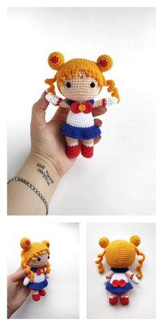 Amigurumi Tiny Japanese Girls Free Pattern – Amigurumi Free Patterns Crochet Geek, Crochet Toys, Free Crochet, Amigurumi Doll, Yarn Colors, Japanese Girl, Free Pattern, Crochet Patterns, Make It Yourself