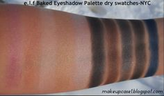 e.l.f Baked Eyeshadow Palette-NYC-Dry Swatches.