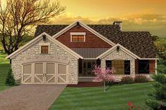 1616 sq ft + basement Ranch Style House Plan - 3 Beds 2.00 Baths 1616 Sq/Ft Plan #70-1044 Exterior - Front Elevation - Houseplans.com