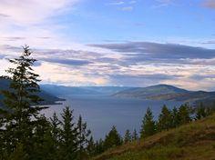 Visit the Okanagan Lake in the Okanagan Valley of British Columbia.