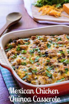 Mexican Chicken Quinoa Casserole | The Law Student's Wife