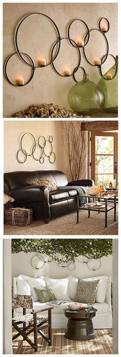 E home metal wall art wall decorcircular chain wall decor