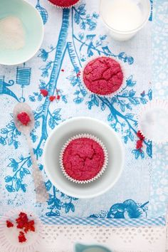 Gluten and dairy free red beet and poppy seed muffins from Cannelle et Vanille