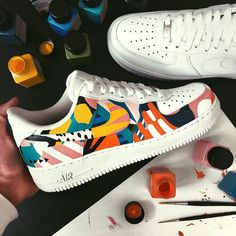 Behind The Scenes By jacopomalossetti Dr Shoes, Cute Nike Shoes, Hype Shoes, Me Too Shoes, Custom Painted Shoes, Custom Shoes, Mode Converse, Nike Shoes Air Force, Aesthetic Shoes