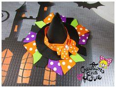 Sombrero bruja cinta escultura pinza de pelo. Pinza de pelo de