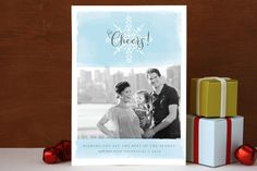 Sunshine & Snow Christmas Photo Cards by Susie All... | Minted  Watercolour look