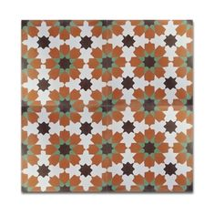 Pack of 12 Ahfir Orange and Green Stars Wall Tiles (Morocco) | Overstock.com Shopping - The Best Deals on Accent Pieces
