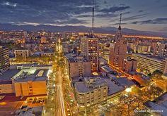Ciudad de Mendoza (Nocturna) San Francisco Skyline, Paris Skyline, Nature, Travel, Roads, Nocturne, Driveways, Traveling, Tourism