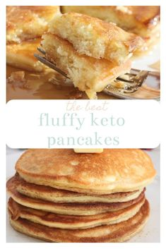 Thick fluffy and buttery keto pancakes! Only 2 net carbs per serving. If you m - Keto Breakfast - Ideas of Keto Breakfast - Thick fluffy and buttery keto pancakes! Only 2 net carbs per serving. If you missreal pancakes then Best Keto Pancakes, Low Carb Pancakes, Low Carb Breakfast, Breakfast Recipes, Fluffy Pancakes, Breakfast Ideas, Breakfast Cereal, Pancake Recipes, Breakfast Pancakes