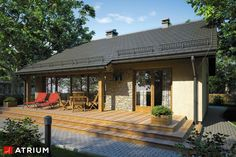 Landscaping Business Near Me Landscaping Around Deck, Landscaping Las Vegas, Backyard Landscaping, Landscaping Ideas, Village House Design, Village Houses, Cottage Renovation, Weekend House, Solar Panels For Home