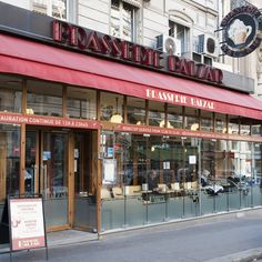 Brasserie Balzac 49, rue des Ecoles 5e +33 1 43 54 13 67  Balzac is a great old brasserie with excellent service (the waiters have been there forever but are not pissed off, they retain a dry sense of humor). The food is good, classic brasserie fare and it's a great spot for Sunday lunch or late dinner.