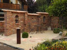 Sichtschutzmauer Aplos für den Sitzbereich auf der Terrasse